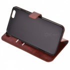 Protective Flip-Open PU + PC Case w/ Stand + Card / Money Slot for IPHONE 6 PLUS - Blown