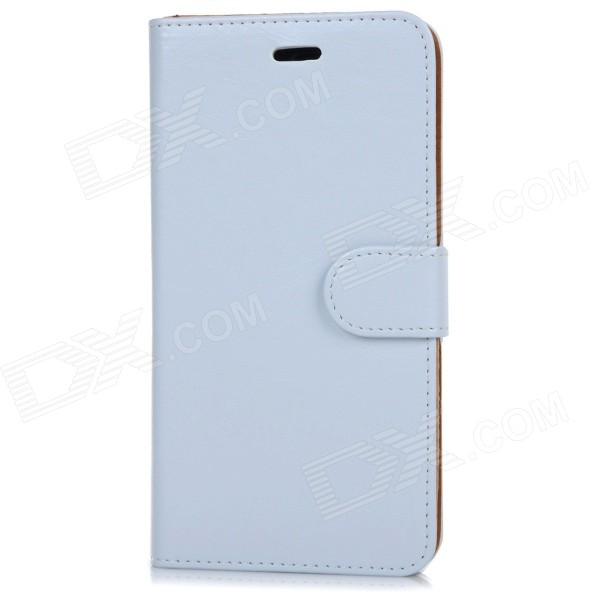 Protective Flip-Open PU + PC Case w/ Stand + Card / Money Slot for IPHONE 6 PLUS - White