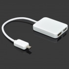 Universal Micro USB 5-Pin to MHL / HDMI / TF / SD / USB OTG Adapter - White
