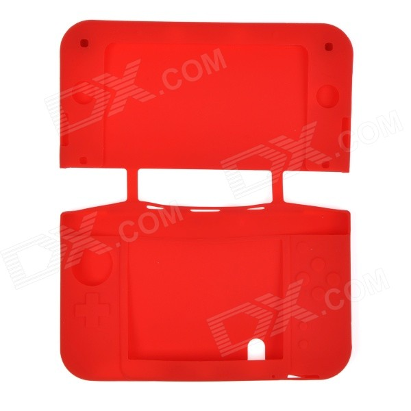 Silicone Protective Case Cover Shell for NEW 3DSLL - Red protective silicone case cover for xbox 360 kinect red