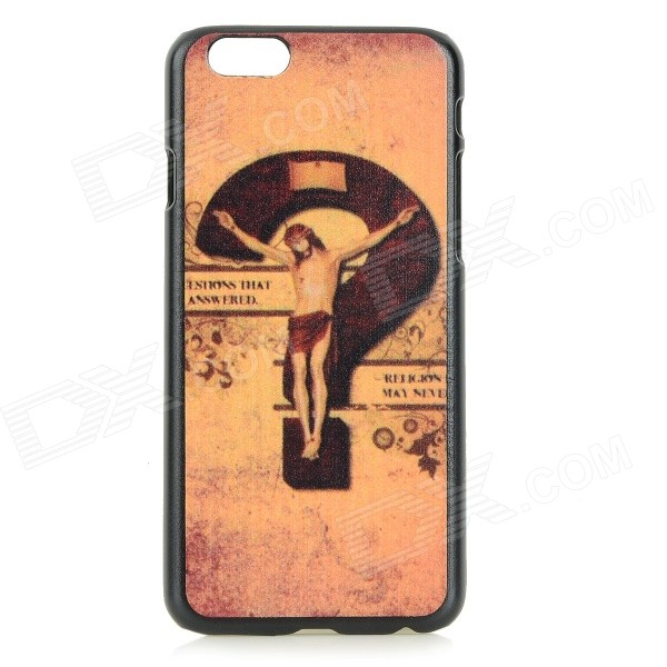 Question Mark Patterned Protective PC Back Case Cover for IPHONE 6 - Brass + Black 10x 6 5mm brass standoff 6 32 m3 pc case motherboard riser screws washers