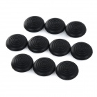 Anti-Slip Silicone Joystick Thumbstick Cap Cover for PS3 / PS4 / XBOX ONE + More - Black (10PCS)