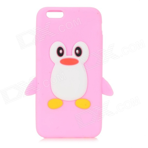 CYF-7001 Penguin Patterned Protective Silicone Back Case Cover for IPHONE 6 - Pink + Yellow пинетки митенки blue penguin puku
