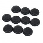 Anti-Slip TPU Joystick Thumbstick Cap Cover for PS4 / XBOX ONE - Black (10 PCS)