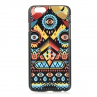 Patterned Protective PC Back Case Cover for IPHONE 6 - Black + Yellow