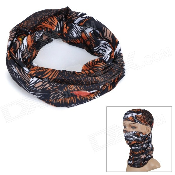 Wild Color C2032 Tiger Pattern Outdoor Cycling Headband / Face Mask / Neck Scarf - Multicolor protective outdoor war game military skull half face shield mask black