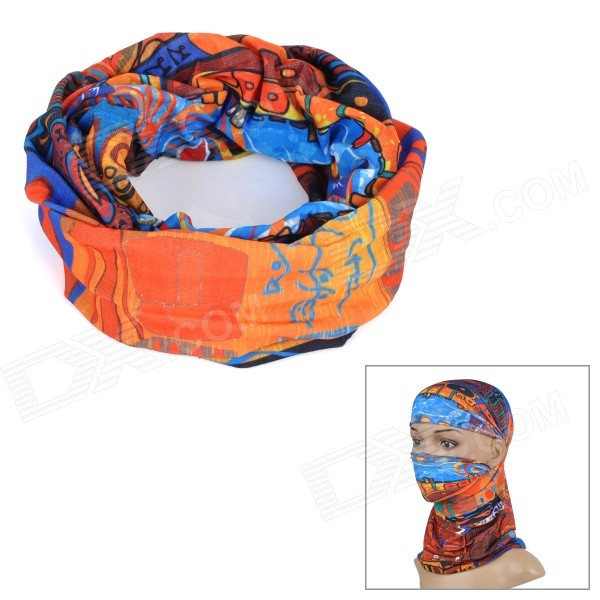 Wild Color C2003 Maya Culture Pattern Outdoor Cycling Headband / Face Mask / Neck Scarf - Multicolor protective outdoor war game military skull half face shield mask black
