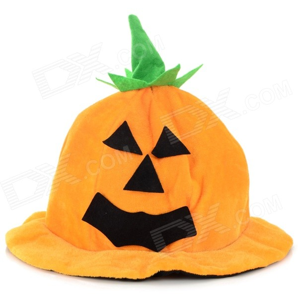 Halloween Cosplay Smile Pumpkin Style Hat - Orange + Black
