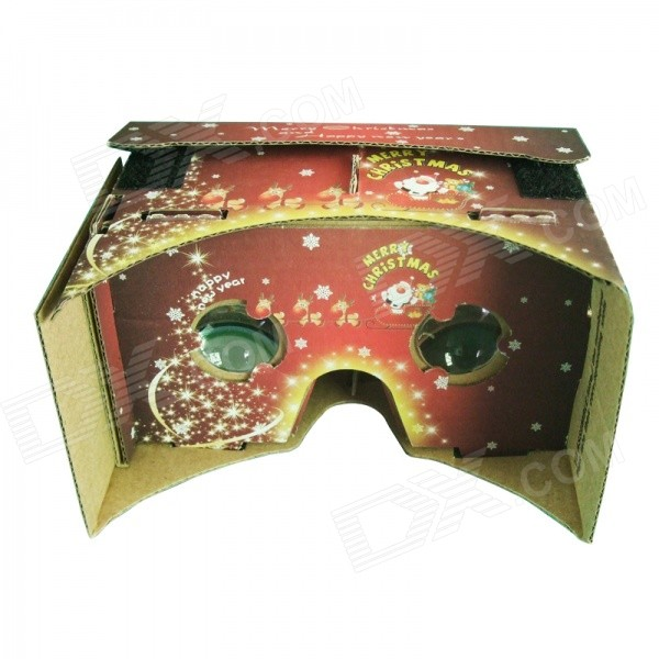 цены DIY Google Cardboard Virtual Reality 3D Glasses (Christmas Edition)