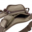 5-Pocket Waist & Leg Canvas Bag for Camping and Traveling - Khaki