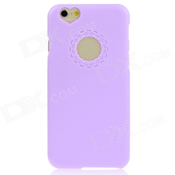 Hat-Prince Heart-Shape Camera Hole Protective Plastic Back Case for IPHONE 6 4.7 - Purple dream capture bell pattern protective plastic back case for iphone 6 4 7 black purple
