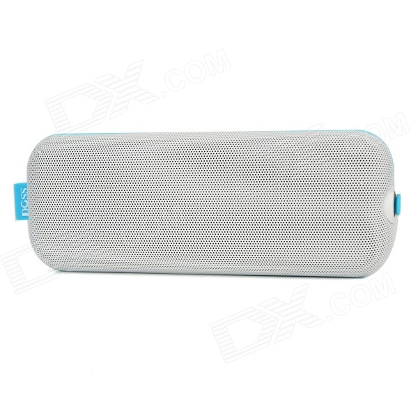 DOSS DS-1166 Wireless Bluetooth Handsfree Speaker w/ Mic / TF Slot for IPHONE / IPOD - White gl 2 portable rugby shaped wireless bluetooth v2 1 speaker w fm tf card slot white black