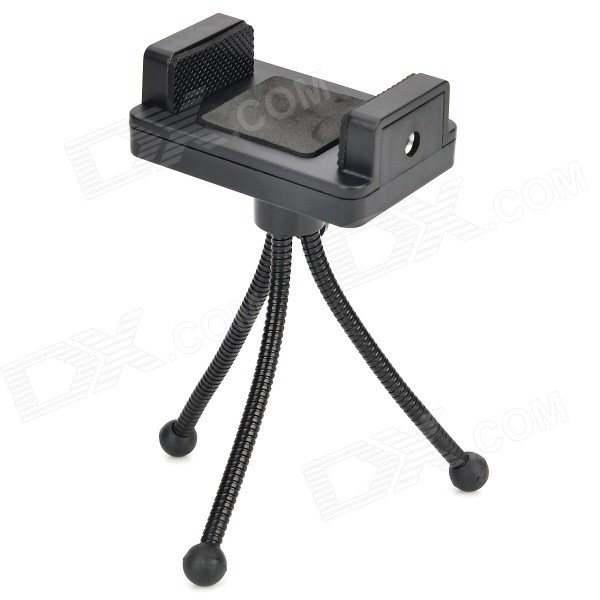 Adjustable Tripod + Camera Holder + Adapter + Long Screw Set for GoPro Hero 1 / 2 / 3 / 3+ - Black