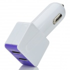 Cigarrillos del coche doble USB Lighter Chager + USB 2.0 de datos / cable de carga - blanco + púrpura (95cm)