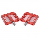 AEST YMPD-10T Ultra Light Aluminium Magnesium Alloy Pedals for Road / Mountain Bikes - Red (Pair)