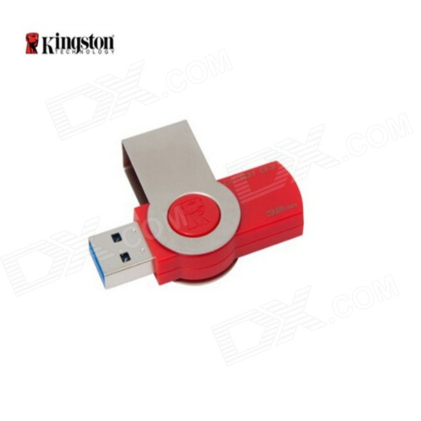 Kingston DataTraveler 101G3 USB 3.0 Flash Drive - Red + Silver (32GB) kingston hxf30 hyperx fury digital usb 3 0 flash drive blue black 32gb