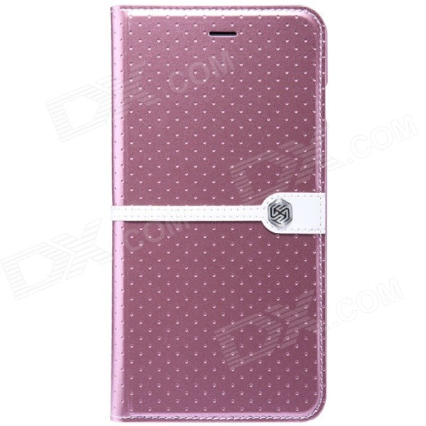 NILLKIIN Ice Series Protective PU Leather Case for IPHONE 6 Plus 5.5 - Pink coteetci w6 luxury stainless steel magnetic watchband for apple watch series 1 series 2 38mm gold