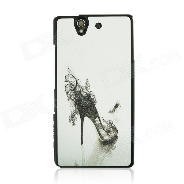 Sexy high-heeled Shoe Pattern Plastic Case for Sony Xperia Z / L36H - White + Black narendra sharma satyakumari sharma and n s bhadauria integrated pest management in brinjal