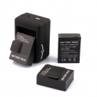 SMJ G-663 Smart USB Dual-Slot Charger + Batteries + Car Charger Set for GoPro Hero 3+ / 3