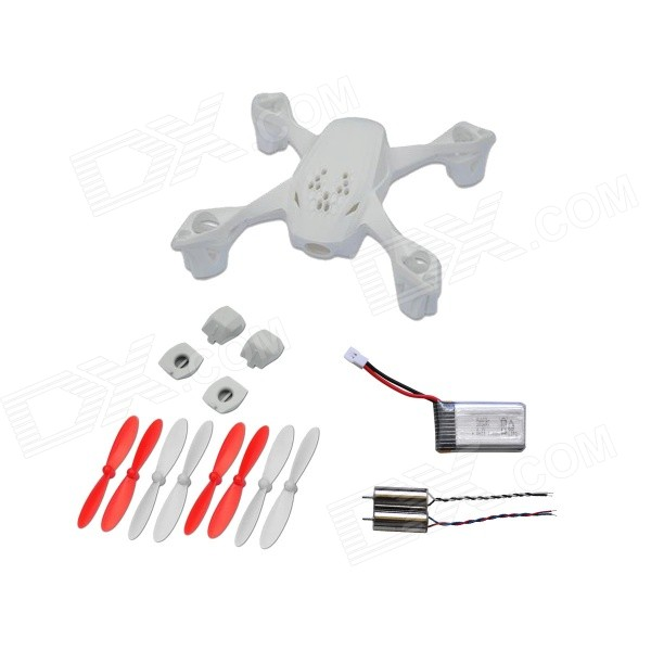 HUBSAN X4 H107D-A07 FPV RC Quadcopter Repuestos Crash Pack - Blanco