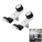OUMILY 360 Degree Rotation Car Air Conditioning Outlet Holder Bracket for Phone - White (2PCS)