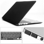"Mr.northjoe 3-in-1 Crystal Hard Case + Keyboard Cover + Anti-dust Plug for Macbook Air 13.3"" - Black"