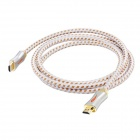Yellow Knife Y800-004 High-speed 3D HDMI Male to Male Connection Nylon Cable - White + Yellow (2m)