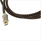 Yellow Knife Y800-004 High-speed HDMI Male to Male Connection Nylon Cable - Black + Orange (2m)