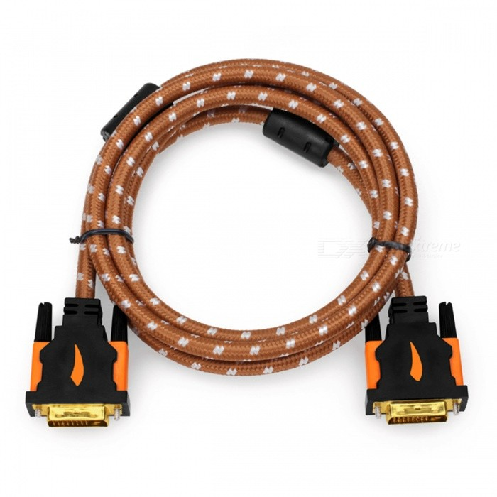 Yellow Knife Y501 DVI-D To DVI-D 24+1 Pin Gold Plated Connection Cable - Black + Blue (1.5m)