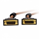 Yellow Knife Y501 DVI-D to DVI-D 24+1 Pin Cable - White + Brown (1.5m)