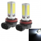 Zweihnder H8 24W 6000K 2300Lm 4 x COB-LED weißes Licht Auto Backup-Light - (12 ~ 24V / 2 PCS)