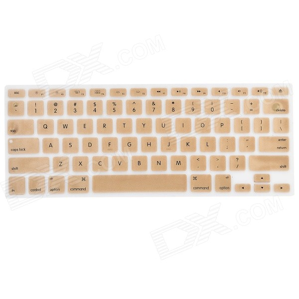 Plastic Ultra Thin Soft Keyboard Protector Cover Skin for MacBook Pro w/ Retina Display - Gold