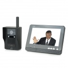 "AJ-138 7"" LCD Wireless Video Door Phone - Black (US Plug)"