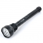 UltraFire 8000lm 15-LED 5-Mode Super Bright LED Flashlight Torch - Black (2/4 x 18650 / 26650)