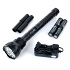 UltraFire 8000lm 15 LED 5-Mode Super Bright LED Flashlight Torch - Preto (2/4 x 18650/26650)