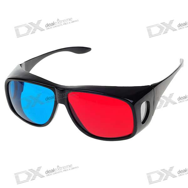 Professional Resin Lens Anaglyphic Red + Cyan 3D Glasses