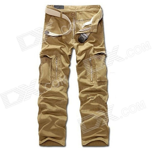 R26332 Men's Comfortable Casual Pants - Khaki (Size 31)