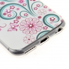 "Kinston Butterfly & Flower Pattern Protective TPU Back Case for IPHONE 6 4.7"" - Green + Red"