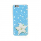 "Kinston Flowers Diamond Paste Pattern TPU Soft Back Case for IPHONE 6 4.7"" - Blue + White"