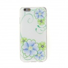 "Kinston Blue and Green Flower Diamond Paste Pattern TPU Soft Case for IPHONE 6 4.7"" - Blue + Green"