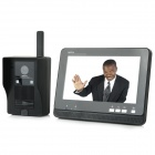 "AJ-139 7"" LCD Wireless Video Door Phone - Black (EU Plug)"