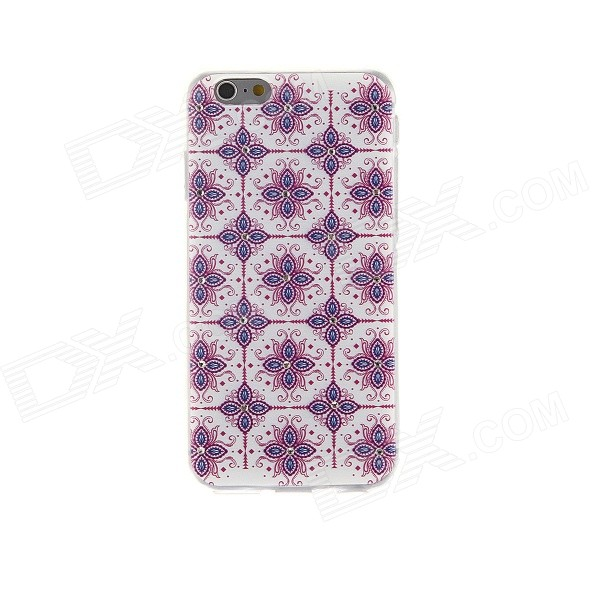Kinston Patterned Rhinestone Studded Protective Soft TPU Back Case for IPHONE 6 - Red + Multi-color