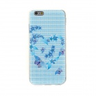 Kinston Schmetterlings-Diamant-Paste Pattern TPU weiche Tasche für iPhone 6 - Blau + Lila