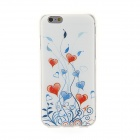 Kinston Heart Vine Rhinestone Paste Pattern TPU Back Case for IPHONE 6 - Red + Blue + Multi-Color