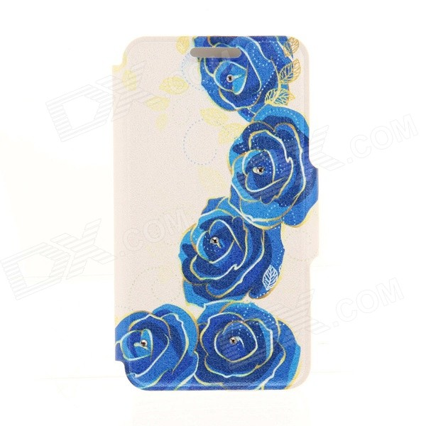Kinston Roses Rhinestone Paste Pattern PU Leather Flip Open Case w/ Card Slot for IPHONE 6 сотовый телефон huawei honor 8 pro black