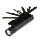 XL-AD02 Multi-in-1 LED 250lm 5-Mode White Flashlight + Tools Kit - Black (1 x 18650)