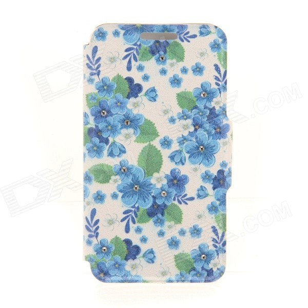 Kinston Flowers Rhinestone Paste Pattern PU Leather Flip Open Case w/ Card Slot for IPHONE 6 sharpener polishing wax paste metals chromium oxide green abrasive paste chromium oxide green polishing paste