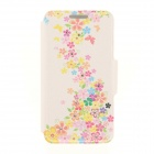 Kinston Flower and Butterfly Rhinestone Paste Pattern PU Leather Flip Open Case for IPHONE 6 4.7""