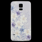 Flowers Pattern Protective PC Back Case for Samsung Galaxy S5 - Light Purple