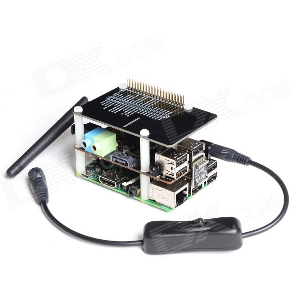 SupTronics X300ST Expansion Board + 40-Pin Data Cable + Adapter Set for Raspberry Pi B+